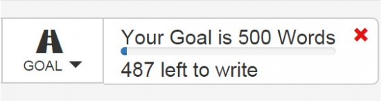 word counter goal tool