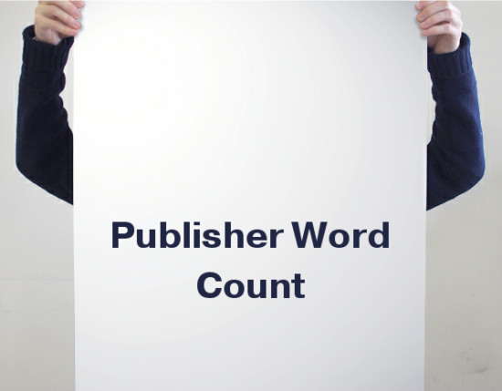 Publisher word count tool