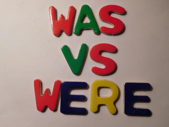 was versus were