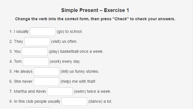 Simple Present Worksheet Archives Word Counter Blog