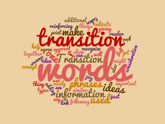 What are transition words?