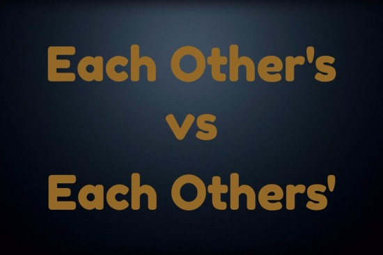 each other's versus each others'