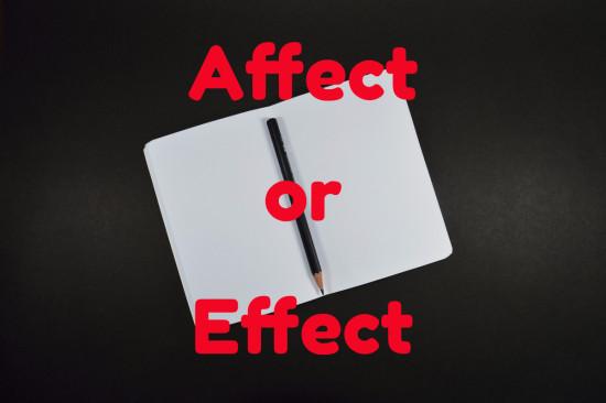 affect versus effect
