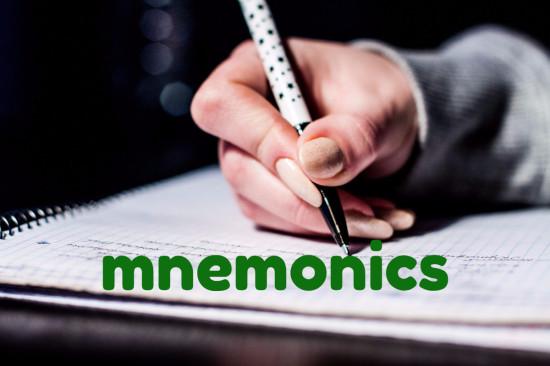 What are mnemonics?
